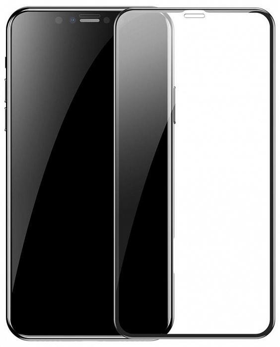 Защитное стекло Baseus Arc-Surface Tempered Glass Film 0.2mm для iPhone XR, черный for huawei honor play 7x 0 26mm 9h surface hardness 2 5d explosion proof tempered glass screen film