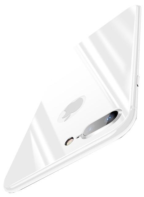 Защитное стекло Baseus 4D Tempered Back Glass для задней панели iPhone 8 Plus, серебристый