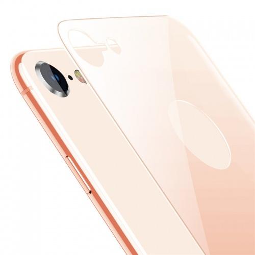 Защитное стекло Baseus 4D Tempered Back Glass для задней панели iPhone 8, золотой