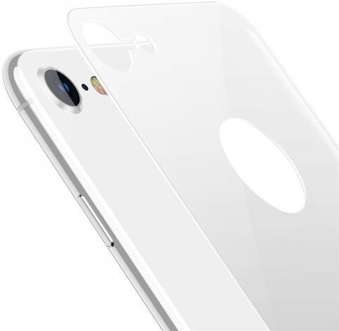 Защитное стекло Baseus 4D Tempered Back Glass для задней панели iPhone 8, серебристый