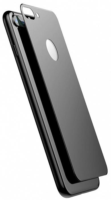 Защитное стекло Baseus 3D Silk-Screen Back Glass Film для задней панели iPhone 7/8, черный