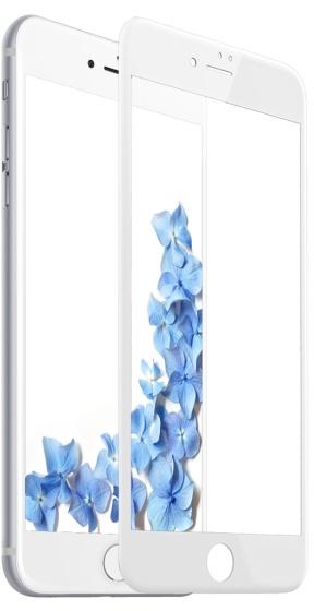купить Защитное стекло Baseus Silk-screen Tempered Glass Film для iPhone 8 Plus, белый по цене 1490 рублей