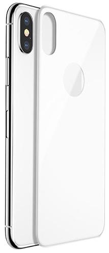 Защитное стекло Baseus 4D Tempered Back Glass для задней панели iPhone X (, серебристый