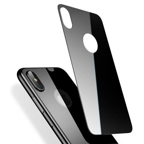 Защитное стекло Baseus Silk-screen Glass 0.3mm для задней панели Apple iPhone X, черный