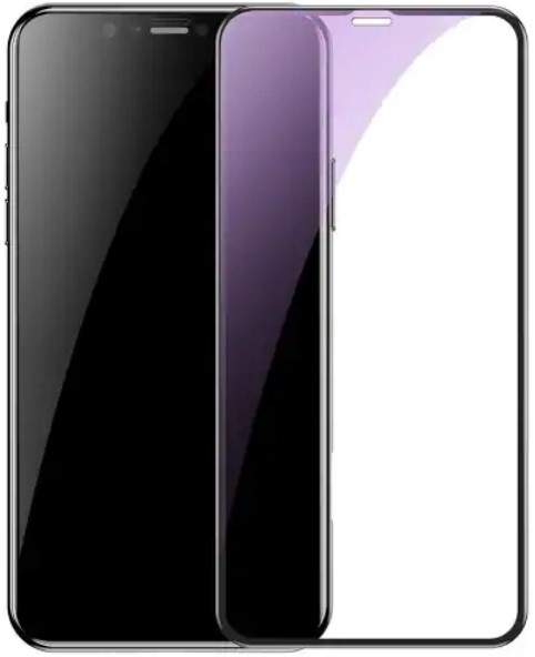 Защитное стекло Baseus Full Coverage Anti Blue Light Glass (SGAPIPH65-HE01) для iPhone Xs Max, черный