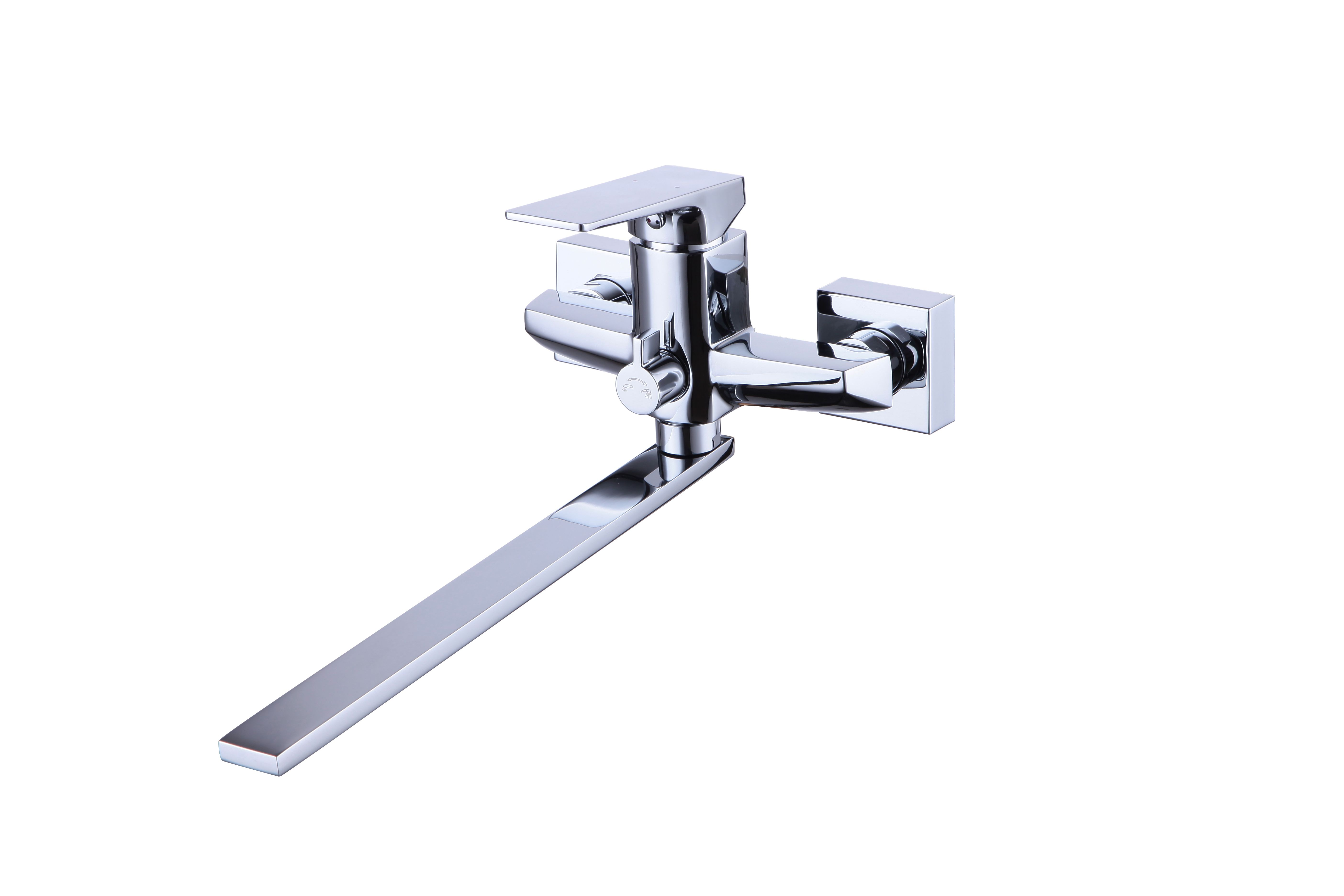 Смеситель SMARTsant Смарт-Лофт для ванны и душаSM253512AASMART. Смеситель для ванны и душа, Смарт-Лофт SM253512AA, плоский излив 250 мм, с керамическим переключателем, с аксессуарами, хром