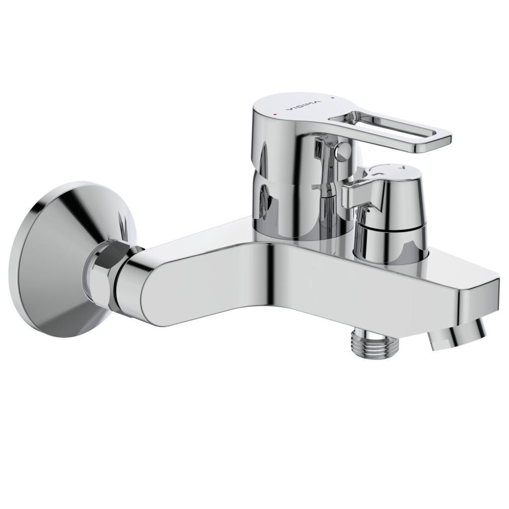 Смеситель Vidima Видима Хайп для ванны и душа смеситель для ванны коллекция орион b4225аа ba005aa однорычажный хром vidima видима