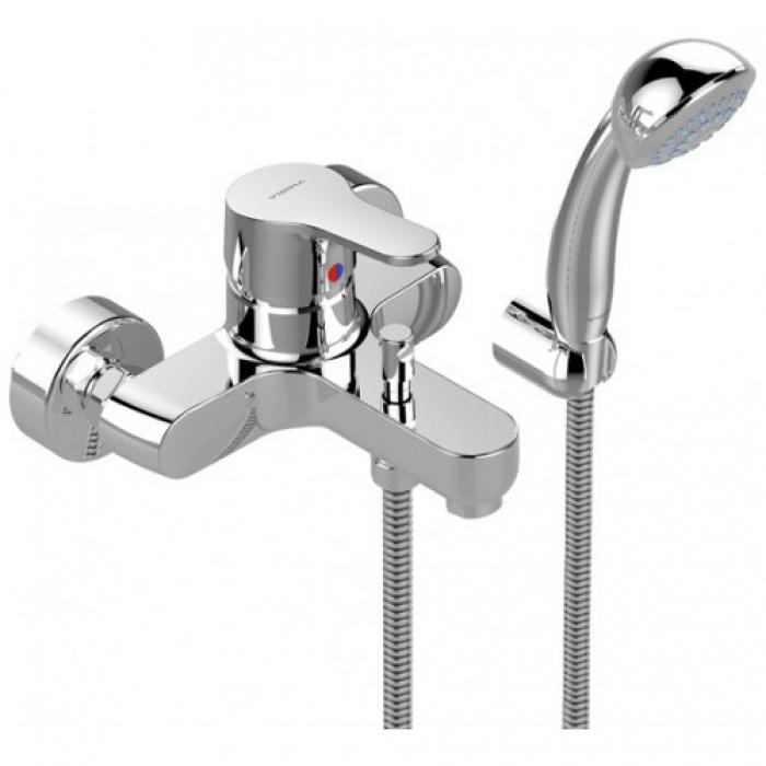 Смеситель Vidima Видима Флоу для ванны/душа смеситель для ванны коллекция орион b4225аа ba005aa однорычажный хром vidima видима