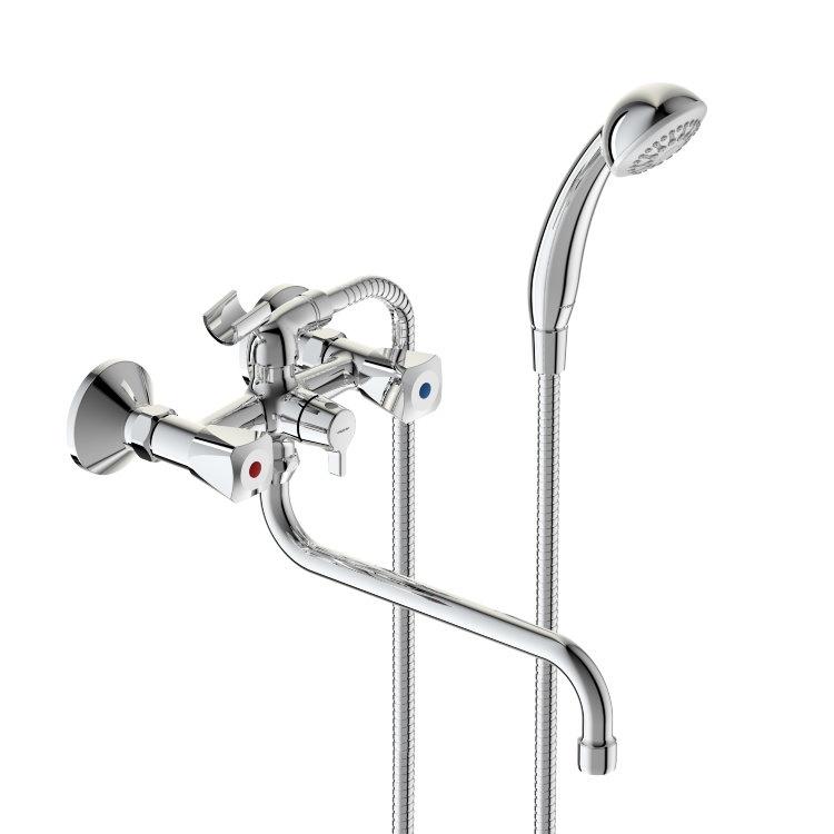 Смеситель Vidima Видима Практик для ванны смеситель для ванны коллекция орион b4225аа ba005aa однорычажный хром vidima видима