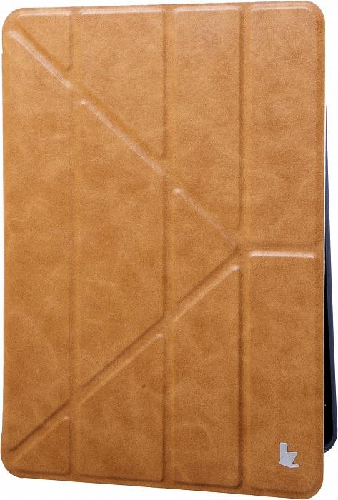 Чехол для планшета Jison PU Leather (JS-IPD-02M) для iPad 9.7 2017/18 + Air 2, коричневый чехол incipio для ipad air lgnd розовый ipd 331 pnk