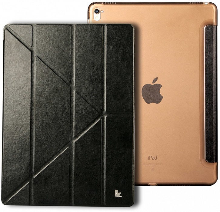 Чехол для планшета Jison PU Leather JS-PRO-10R для iPad Pro 12.9, черный fashion 360 rotating case for ipad pro 12 9 inch litchi leather stand back cover apple fundas