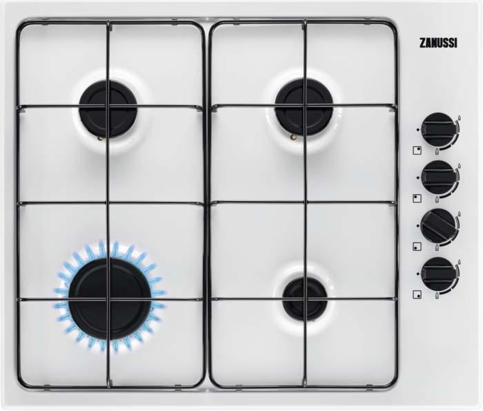 Варочная панель Zanussi GPZ262HW, газовая, белый варочная панель zanussi gpz363sw газовая белый