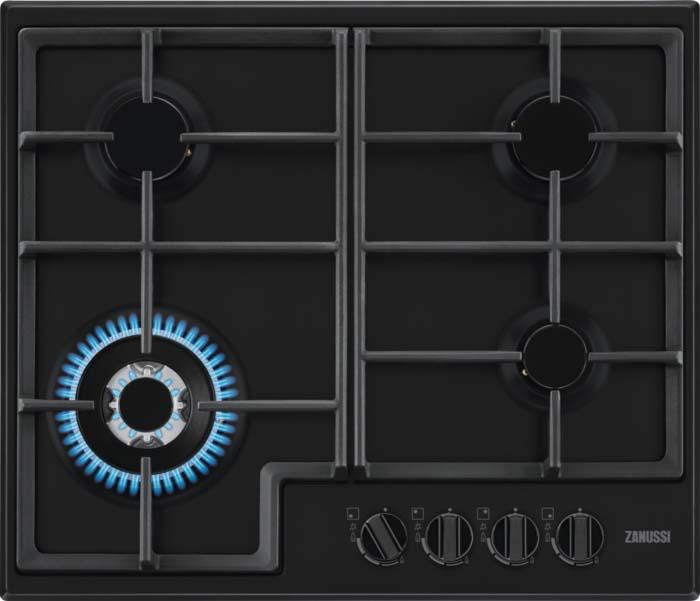 Варочная панель Zanussi GPZ363SB, газовая, черный варочная панель zanussi gpz363sw газовая белый