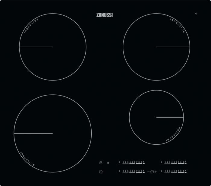 Варочная панель Zanussi IPZ6450KC, индукционная, черный варочная панель zanussi gpz363sw газовая белый
