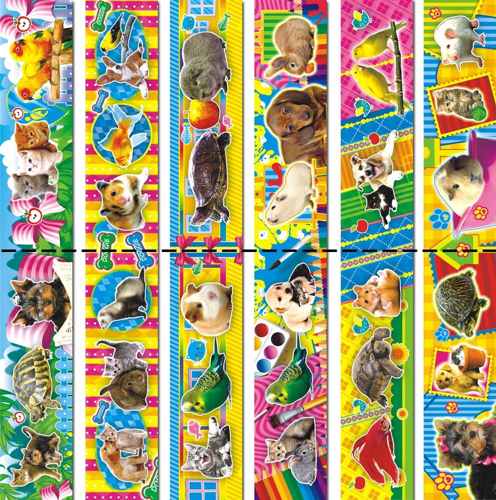 """Закладка ЛиС магнитная """"Домашние любимцы"""" 00052, 12 шт. (картон)"""