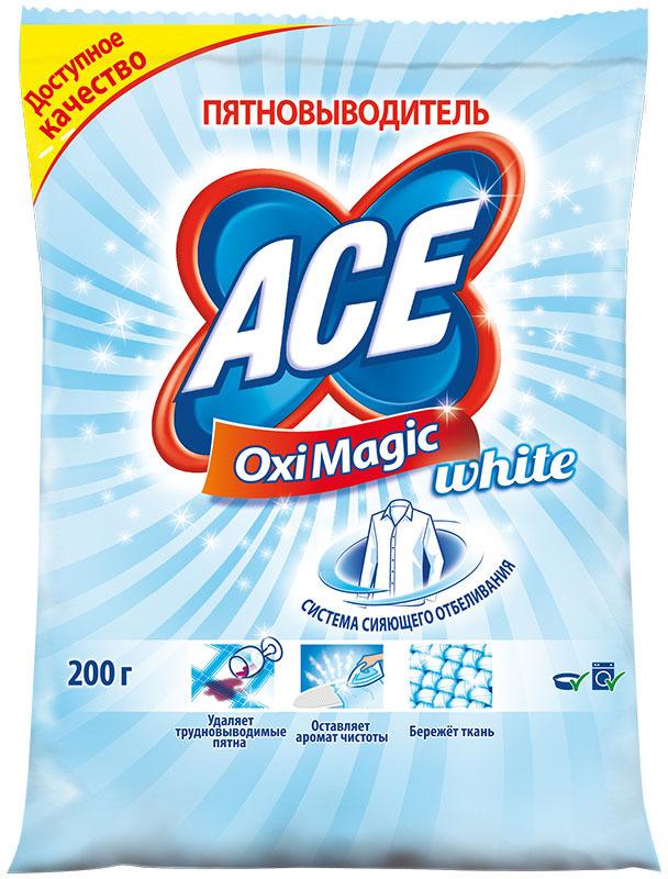 Пятновыводитель Ace Oxi Magic White, 200 г пятновыводитель ace oxi magic 200 г