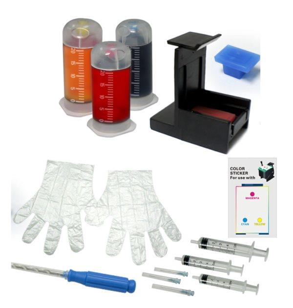 Чернила для принтера Solution Print CL-38/ CL-41/ CL-441(XL)/ CL-446(XL)/ CL-51, красный, черный, желтый цена