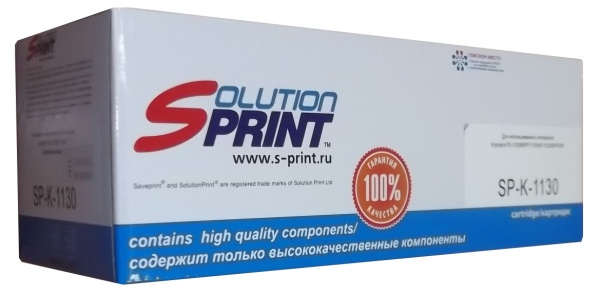 Тонер-картридж Solution Print TK-1130, черный