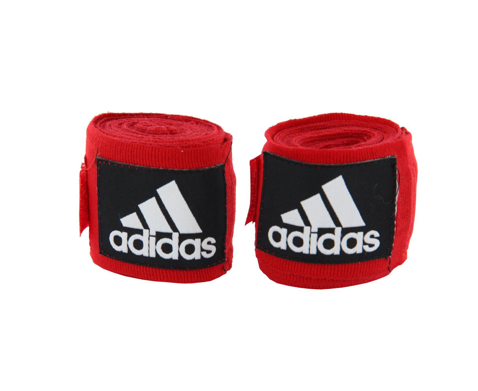 Бинт боксерский Adidas Boxing Crepe Bandage, красный тонус бинт средней растяжимости эластичный 10x300см с застежкой