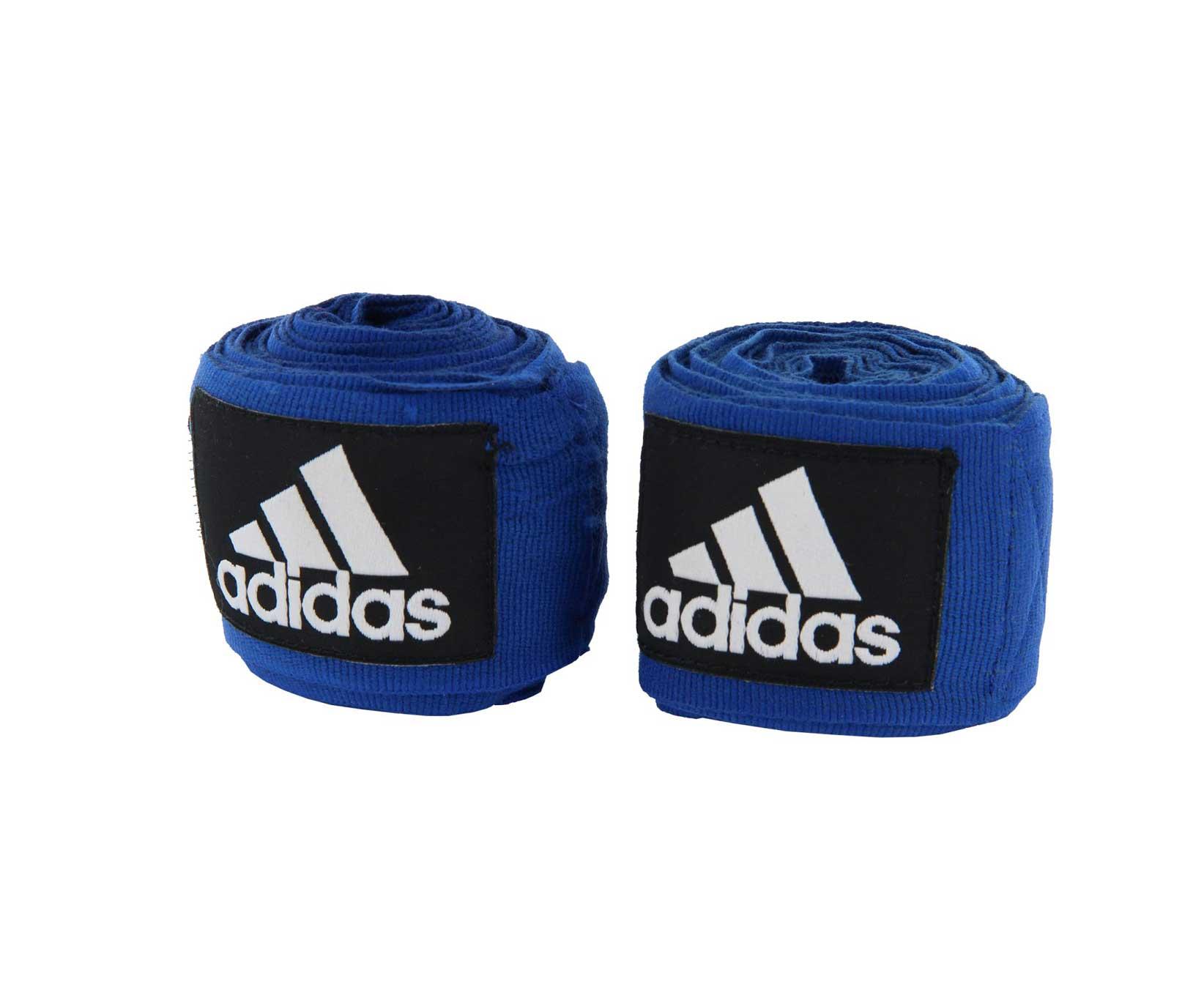 Бинт боксерский Adidas Boxing Crepe Bandage, синий тонус бинт средней растяжимости эластичный 10x300см с застежкой