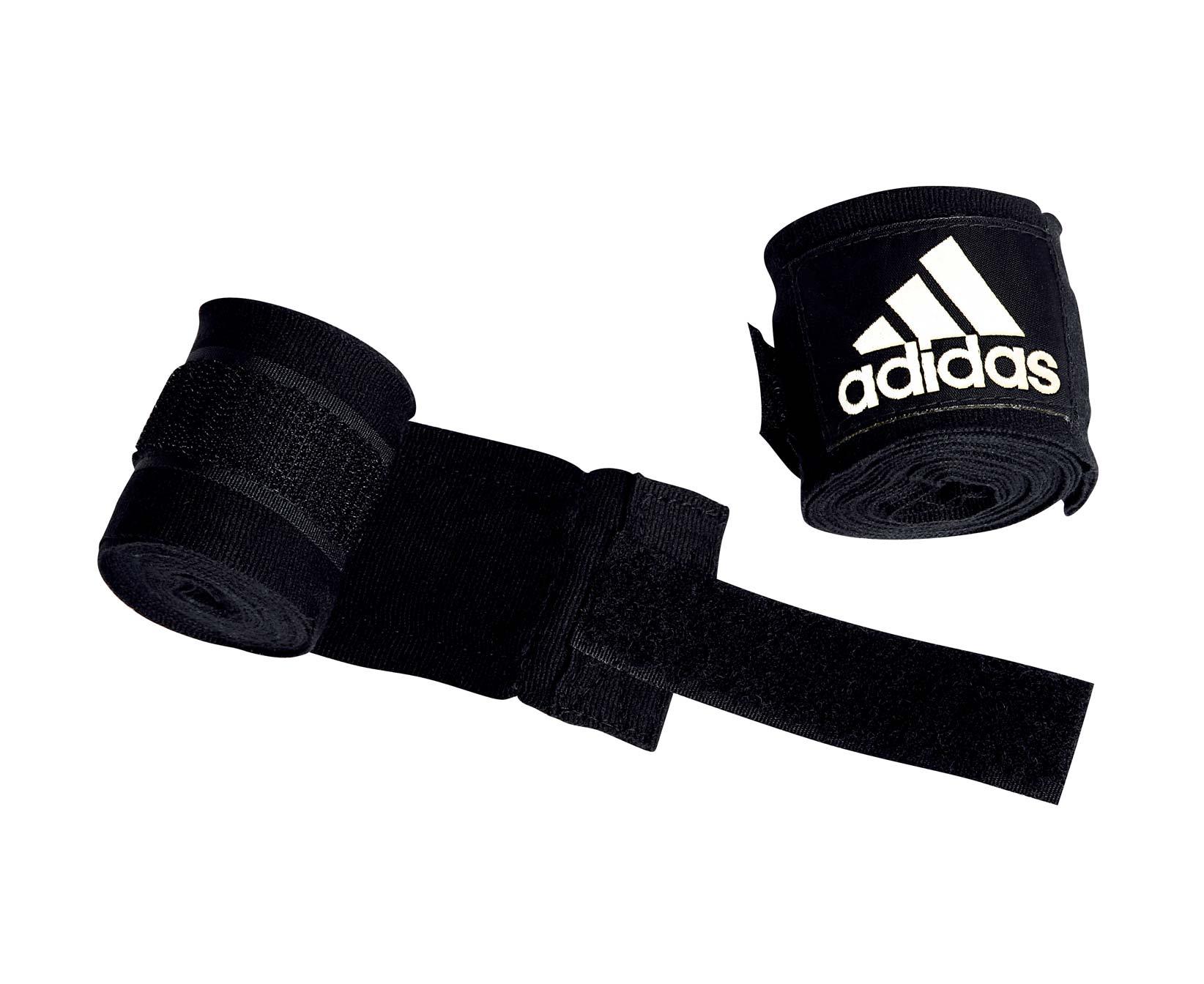 Бинт боксерский Adidas Boxing Crepe Bandage, черный тонус бинт средней растяжимости эластичный 10x300см с застежкой