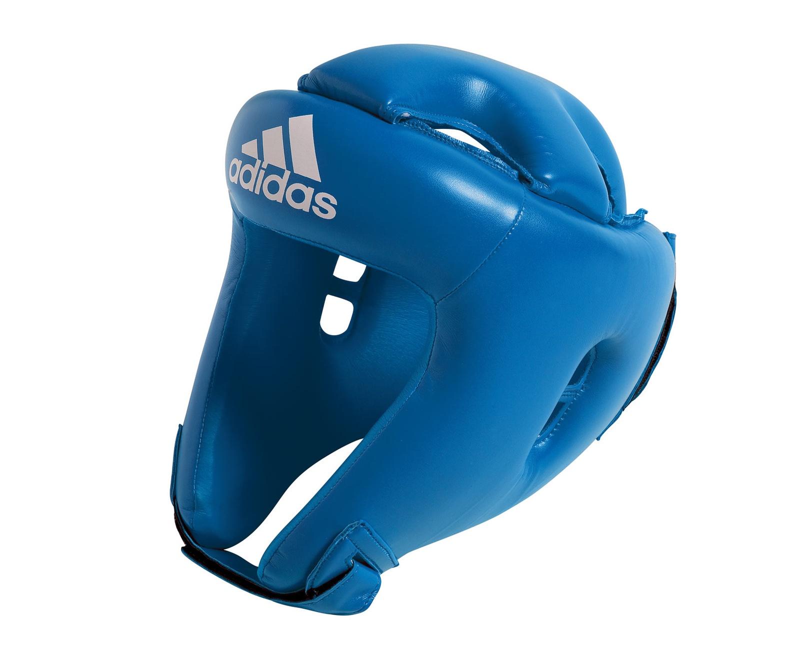 Шлем боксерский Adidas Competition Head Guard, синий цена