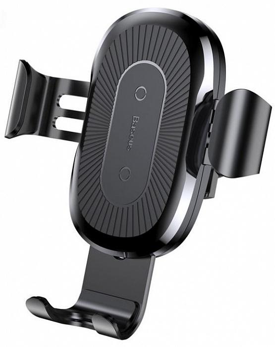 Фото - Держатель для телефона Baseus Wireless Charger Gravity Car Mount, черный беспроводное зарядное устройство baseus simple wireless charger черный