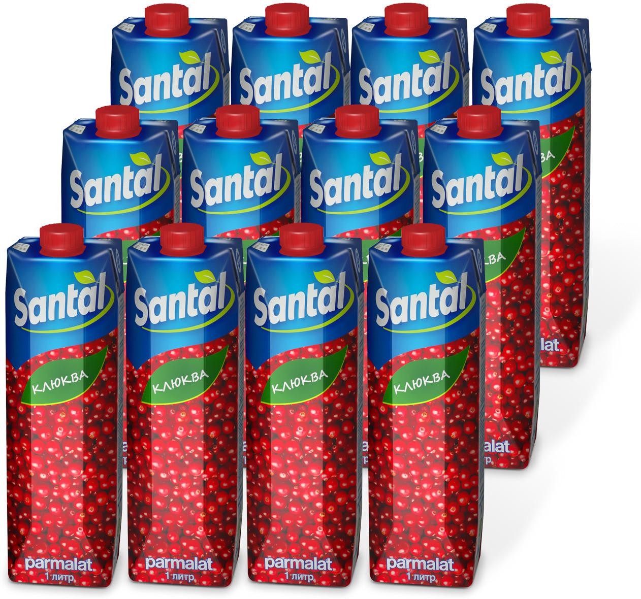 Напиток сокосодержащий Santal Клюква, 12 шт по 1 л diptyque santal свеча santal свеча