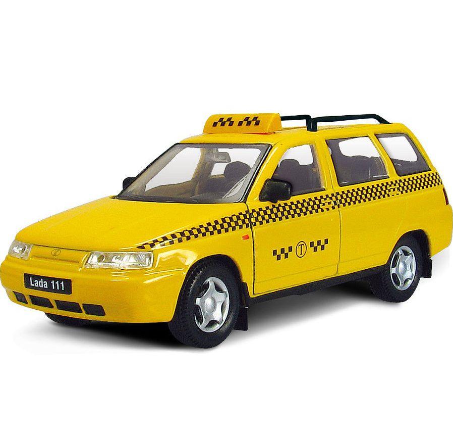 Машинка-игрушка Autogrand Лада 111 Такси желтый для автомобиля класса лада аккумулятора какой нужен