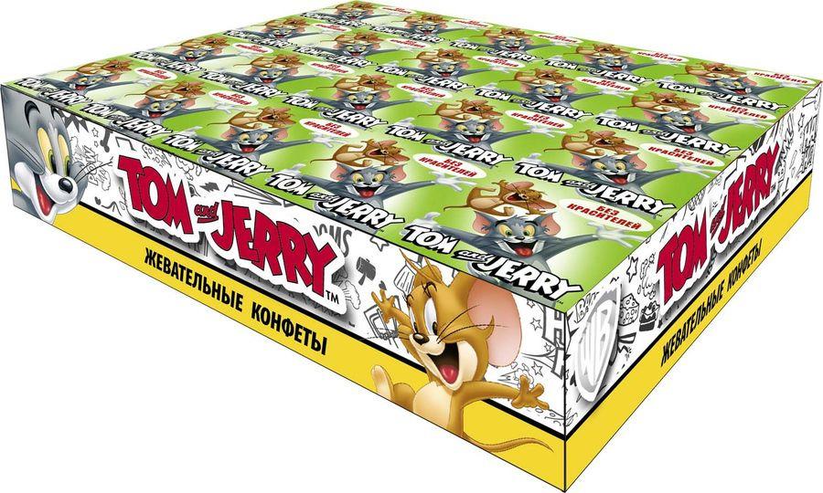 Жевательные конфеты Tom and Jerry Яблоко, 40 шт по 11,5 г