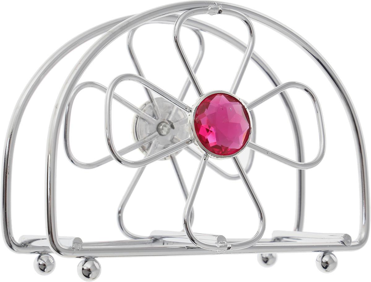 Салфетница Mayer & Boch, 28304, серебристый, розовый