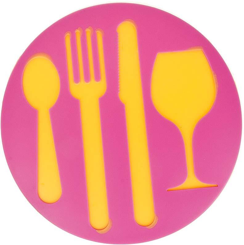 Подставка под горячее Best Home Kitchen Столовые приборы, силиконовая, 19 х 19 х 0,5 см подставка под горячее paterra силиконовая цвет малиновый 17 5 х 17 5 см