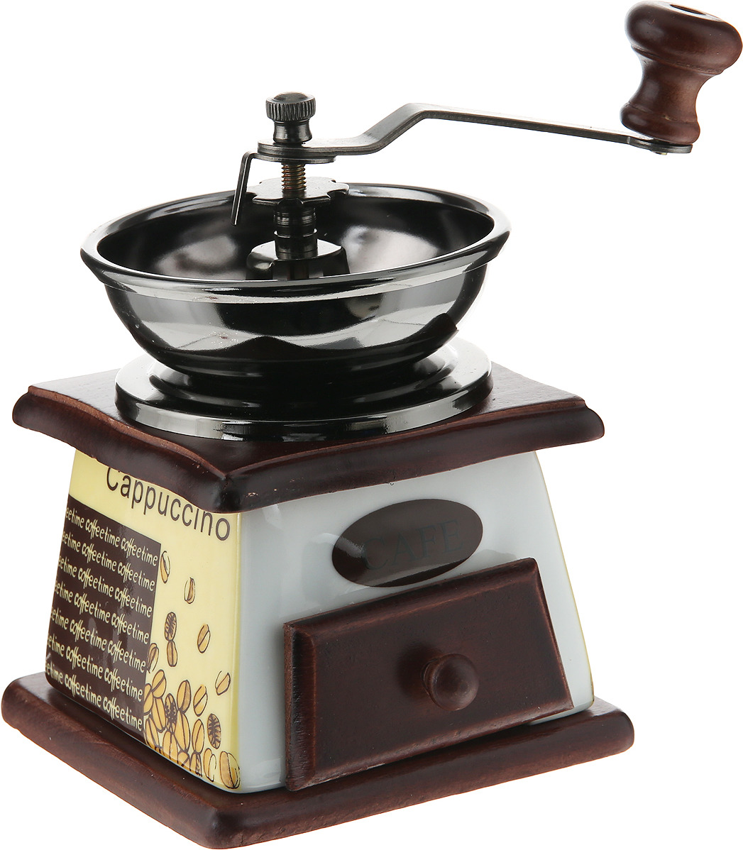 Ручная кофемолка Mayer & Boch, 27830, коричневый, белый