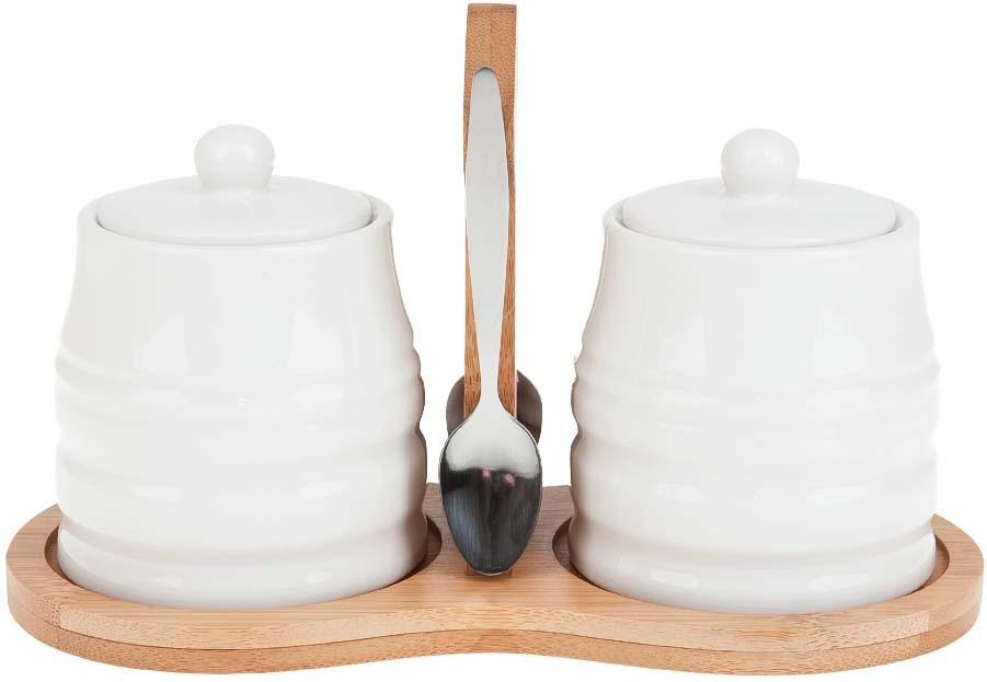 """Набор для специй Best Home Porcelain """"Naturel"""", на подставке, 5 предметов. 2630065"""