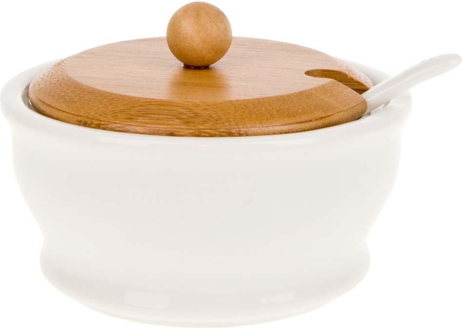 Сахарница BHP Naturel, с ложкой, 200 мл2640349Сахарница с ложкой серии Nature.Аккуратная бамбуковая крышка - отличный акцент на простоту и универсальность для любого интерьера. Рекомендуем!