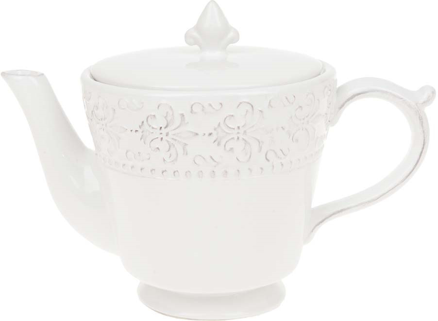 Фото - Чайник заварочный ENS Group Белый узор, 810067, белый, 960 мл ens group заварочный чайник косичка 800 мл