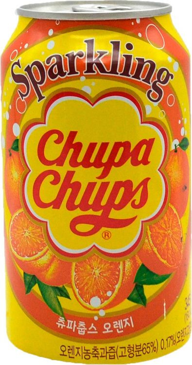 Напиток газированный Lotte Спарклинг Чупа Чупс Апельсин, 24 шт х 345 мл