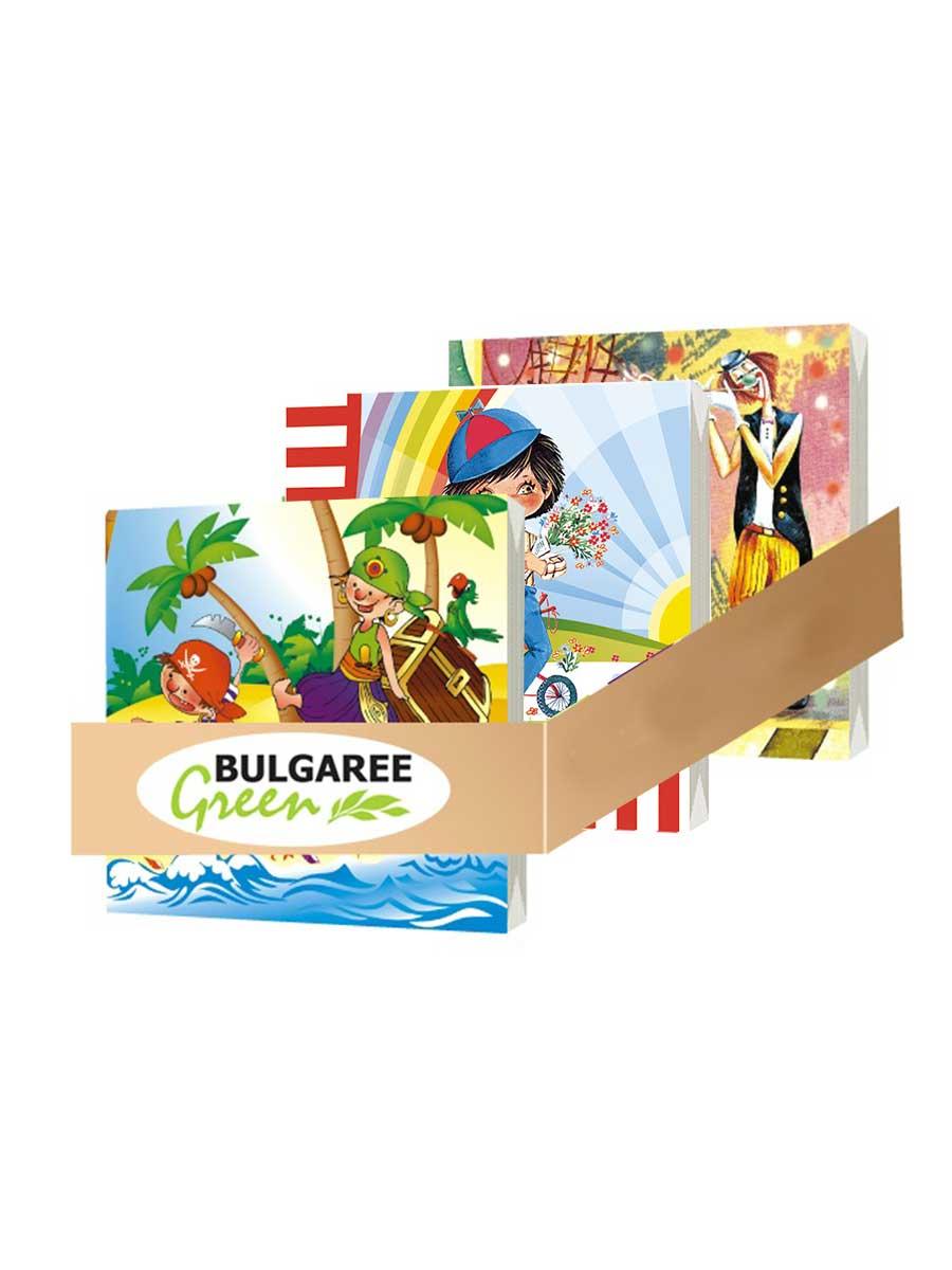 Салфетки бумажные Bulgaree Green Сервировка, Целлюлоза салфетки бумажные bulgaree green совы трехслойные 33 х 33 см 20 шт