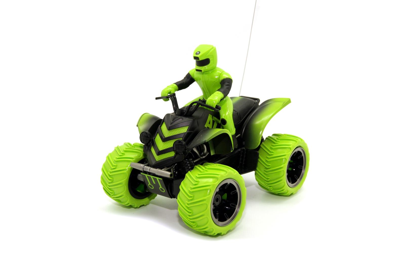 Игрушка радиоуправляемая Balbi MTR-001-G зеленый квадроцикл на радиоуправлении balbi квадроцикл зелёный от 5 лет пластик металл mtr 001 g