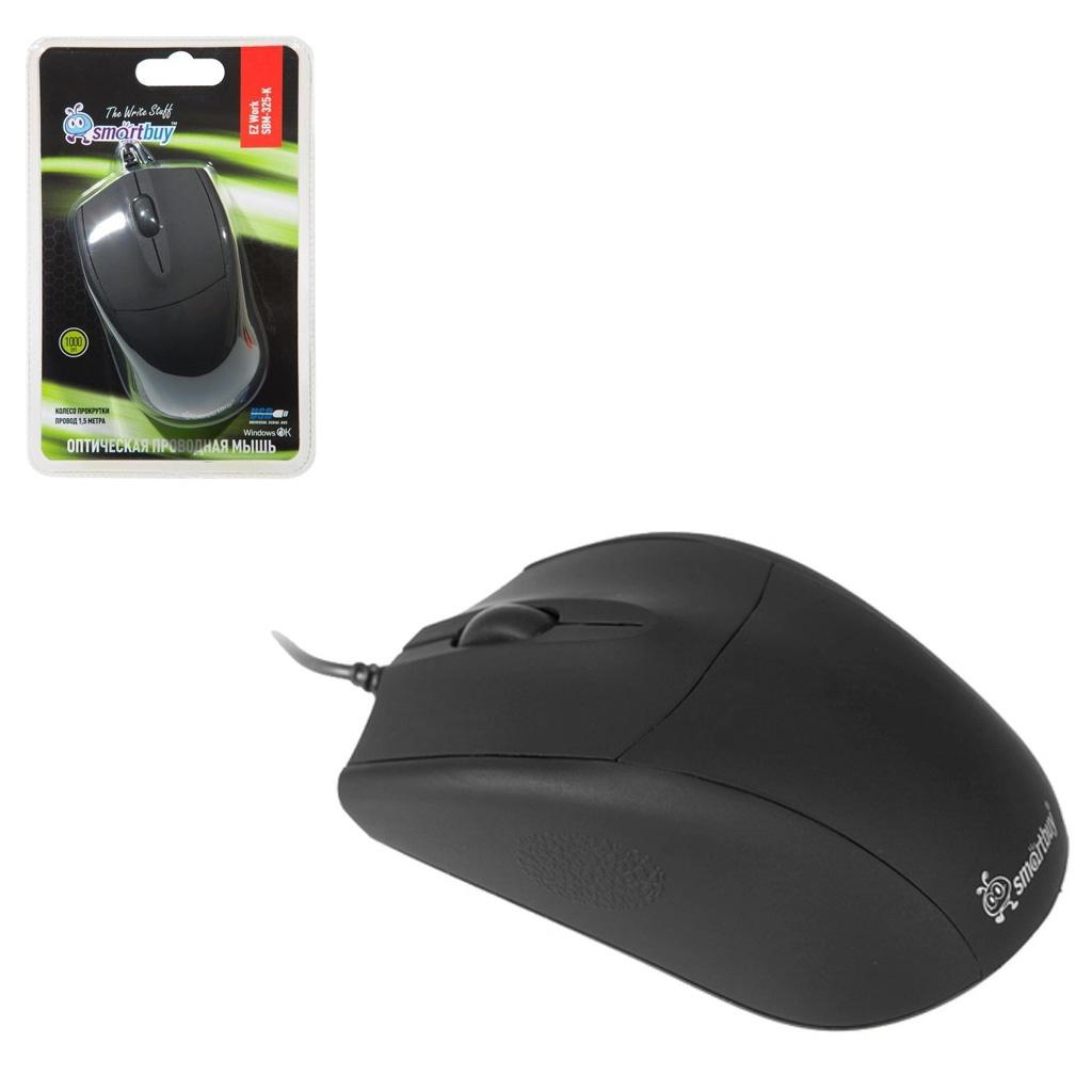 Мышь SMARTBUY SBM-325-K проводная, черный