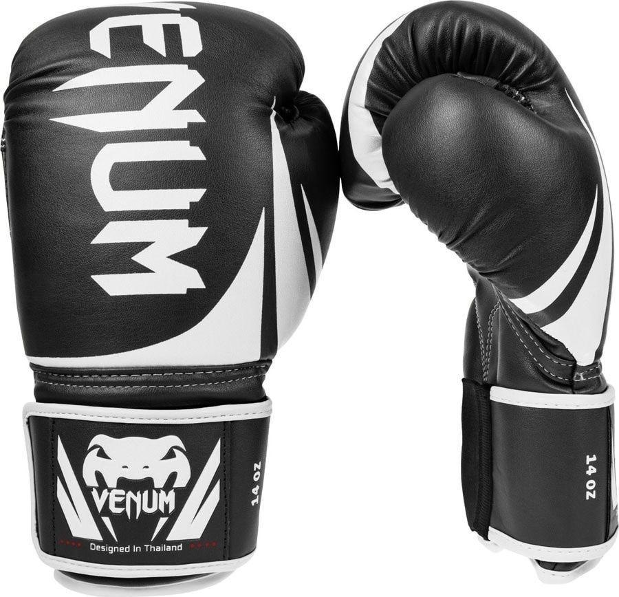 Боксерские перчатки Venum Challenger 2.0, черный, белый, вес 10 унций
