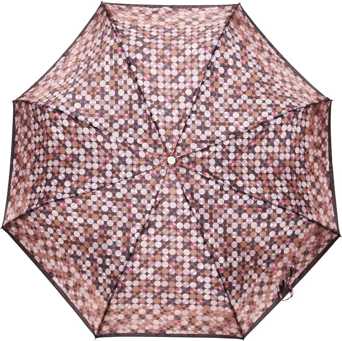 Зонт женский Fabretti, суперавтомат, 3 сложения, цвет: коричневый. L-18115-