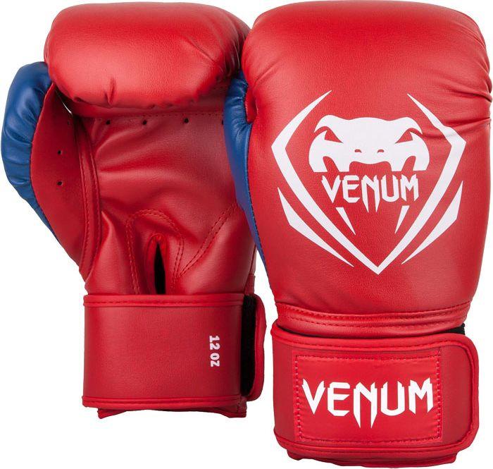 Боксерские перчатки Venum Contender, красный, белый, вес 10 унций