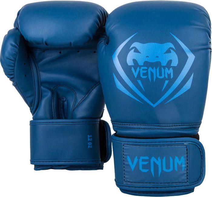 цена Боксерские перчатки Venum Contender, синий, вес 14 унций онлайн в 2017 году