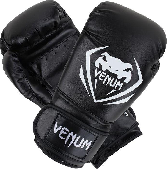 Боксерские перчатки Venum Contender, черный, вес 12 унций форма для дзюдо venum contender bjj gi black