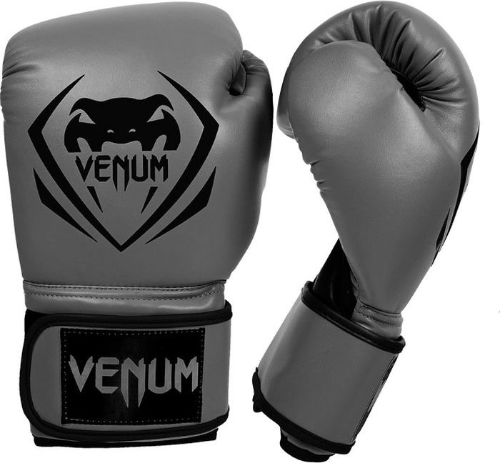 Боксерские перчатки Venum Contender, серый, вес 8 унций форма для дзюдо venum contender bjj gi black
