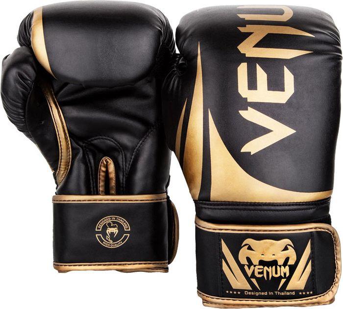 Боксерские перчатки Venum Challenger 2.0, черный, золотой, вес 14 унций
