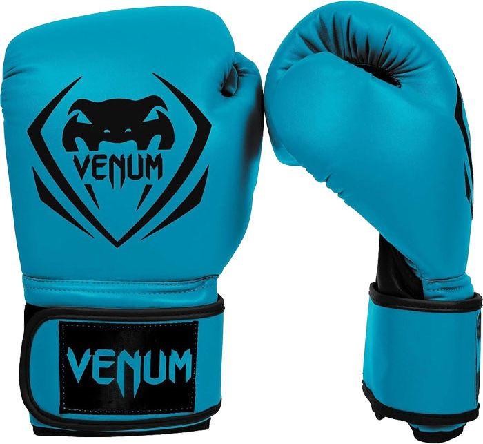 Боксерские перчатки Venum Contender, синий, черный, вес 12 унций форма для дзюдо venum contender bjj gi black