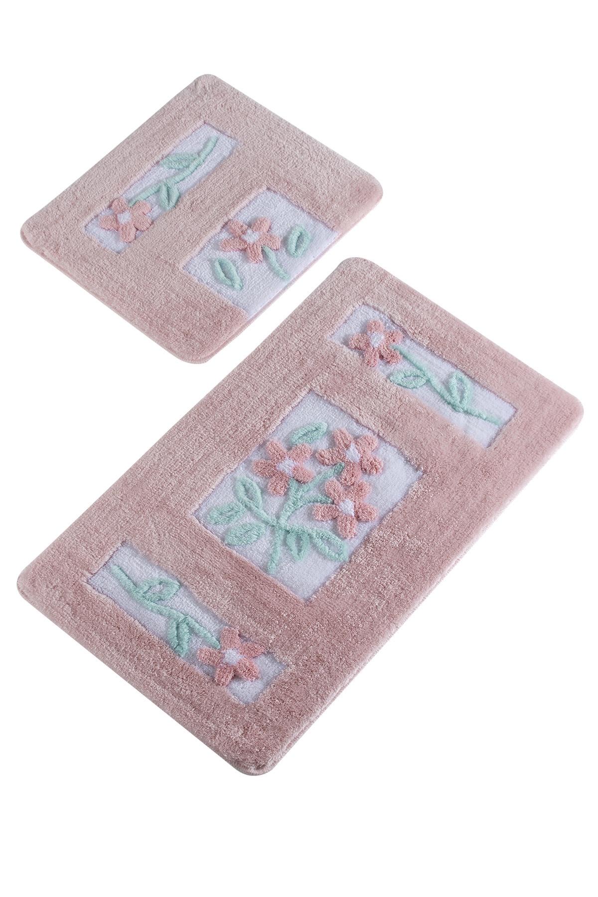 Набор ковриков для ванной DO&CO Коврик для ванной LINDA_розовый, розовый цены