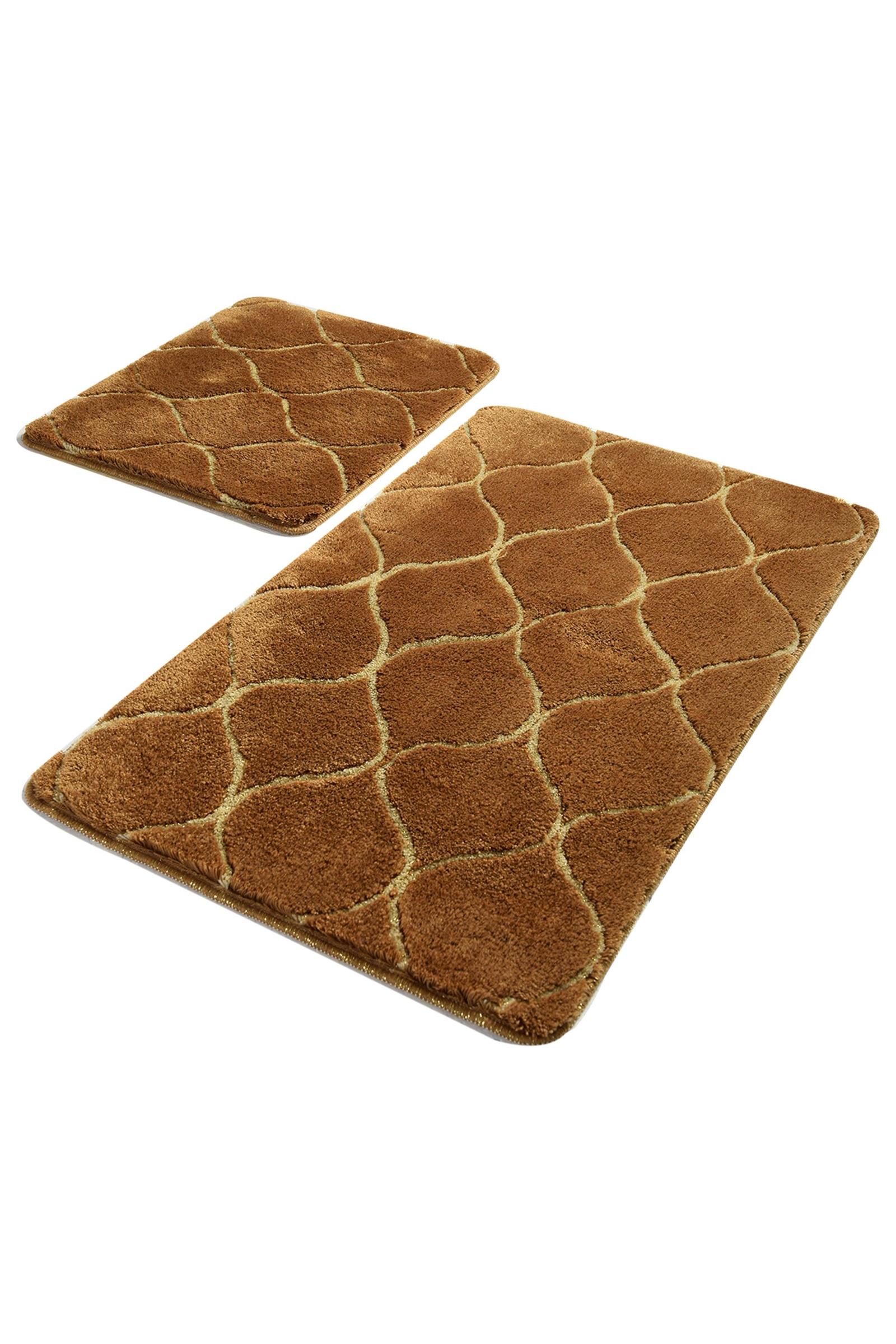 Набор ковриков для ванной DO&CO Коврик для ванной INFINITY_коричневый, коричневый
